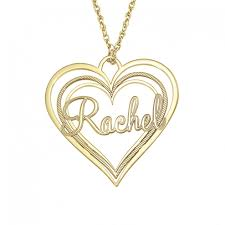 triple heart name pendant 30 x 32 mm personalized jewelry
