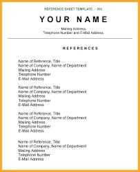 Resume Reference Page Template - Roddyschrock.com