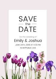 Floral Save The Date Invitation Template Venngage