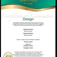 Registered Design Australia Design Certificate