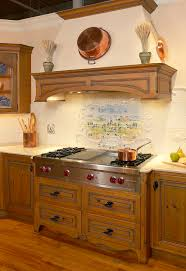 Precious Spanish Tile For Your Kitchen Backsplash Decohoms Impressive Kitchen Cabinet Backsplash