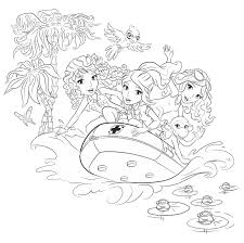 Lego Friends On A Boat Coloring