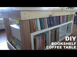diy bookshelf coffee table part 2