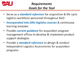 Ppt Dod Integrated Product Support Roadmap Tool Log Fipt