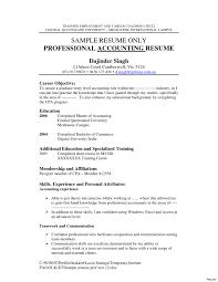 Accounting Resume Objective Samples Nguonhangthoitrang Net