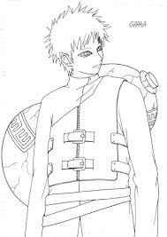 Small Picture Naruto Coloring Pages Gaara Cartoon Coloring pages of
