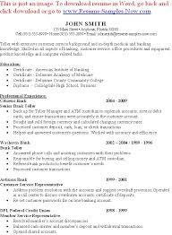 ... Sample Bank Teller Resume Entry Level - http\/\/wwwresumecareer - bank  teller ...