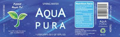 waterbottle labels aqua pura water bottle label randy haims