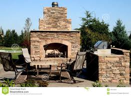 Outdoor Kitchen Fireplace The Outdoor Kitchen Royalty Free Stock Photography Image 16374207