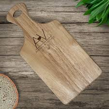 personalised wooden chopping board with initials