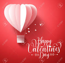 Happy Valentines Day Vector Greetings Card Design With 3d Realistic