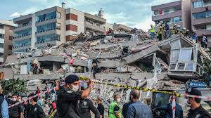 An earthquake (also known as a quake, tremor or temblor) is the shaking of the surface of the earth resulting from a sudden release of energy in the earth's lithosphere that creates seismic waves. 7 0 Magnitude Quake Strikes In Aegean Sea At Least 14 Dead In Turkey And Greece Npr