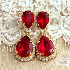 red ruby chandelier earrings red ruby earnings gold ruby chand