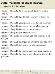 Technical Consultant Resume Sample Useful Materials For Senior