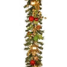 decorated christmas wreath with battery operated led lights