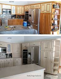 kitchen remodel including refinished cabinets in northville ny