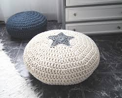 Floor Pillows And Poufs Popular Items For Playroom Pouf On Etsy Crochet For The Home