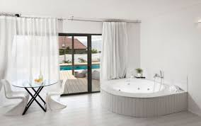 Perfect Modern Curtains For Sliding Glass Doors View In Gallery Contemporary Bathroom And Decor