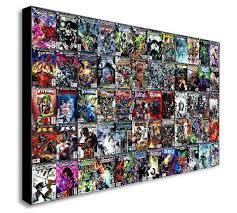 dc comics super hero collage canvas