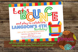 best compilation of bounce house birthday party invitations bounce house birthday party invitations as magnificent ideas for unique birthday invitation design 13920166