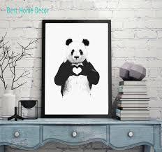 the giant panda love heart wall art nursery decor giant panda watercolor wall art print animal on giant panda wall art with the giant panda love heart wall art nursery decor giant panda