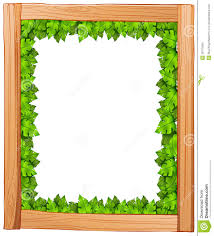 Designs Made From Leaves A Border Design Made Of Wood And Green Leaves Stock Vector