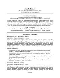 Resume Example Industrial Engineering Professional Experience Tips