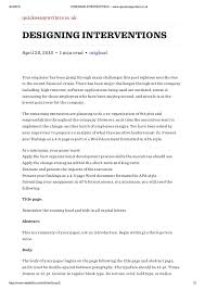 designing interventions quickessaywriters co uk essay writing s