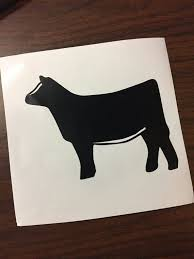 show heifer silhouette.  Show Show Cattle Simmental Heifer Vinyl Sticker By CarouselDesign To Silhouette