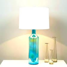 fillable glass lamp kit uk blue with burlap shade large size of shades only lamps teal