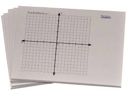 Sticky Note Mini Graph Pads 5 Count Graph Paper Sticky Notes 20 X 20 Four Quadrant With Notes
