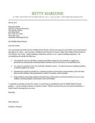 cover letter example of a teacher   a passion for teaching    middle school teacher cover letter example