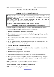 Parallel Structure Worksheet Free Worksheets Library | Download ...