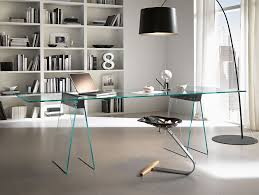 contemporary office decor. Modern Glass Desk Contemporary Office Decor