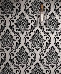 victorian wallpaper. Simple Victorian Black And White Damask Wallpaper Rolls Velvet Flocked Textured Victorian  Decor In Y