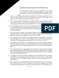 II. Class Interval Questions by Pratima Gurung, CUSB 1911175012, Gaya |  Standard Deviation | Evaluation Methods