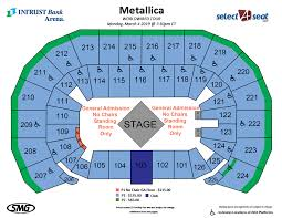 Metallica Seating Chart Intrust Bank Arena Detailed Seating Chart Best Picture Of