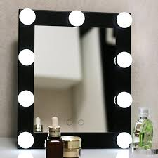 Portable Vanity Mirror With Lights Extraordinary BEAUTMEI Table Single LED 32 Lights Bulbs Makeup Mirror With Touch