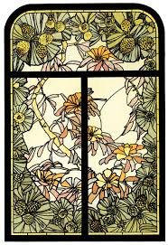 Authentic Art Nouveau Stained Glass Designs In Full Color Amazon Com Masterworks Of Art Nouveau Stained Glass