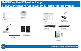 public address system pa system cmxaudio com public address amplifier · 100v pa speaker · ip network audio system