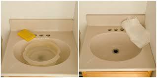 how to paint bathroom sink 2