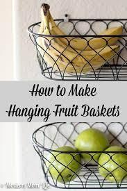 diy hanging fruit baskets fruit
