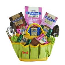 garden gift basket. Garden Tote With Chocolates Gift Basket