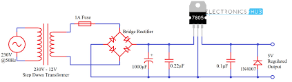 7805 voltage regulator ic circuit working and applications understanding 7805 voltage regulator ic ac source circuit