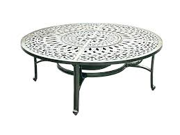 outdoor round wrought iron coffee table decorating glamorous