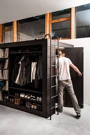 simple and saving place loft bed for small room man area hanging clothes and study rectangular