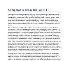 comparative essay on mother by grace paley and dear mother by  document image preview