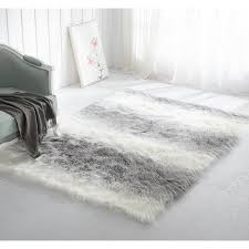 white fur shag rug. Mainstays Ombre Faux Fur Shag Rug, Multiple Colors And Sizes White Rug D