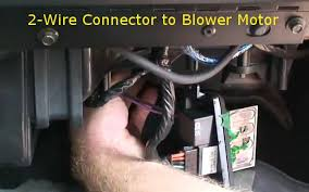 how to replace the blower motor resistor that wont blow at all to install