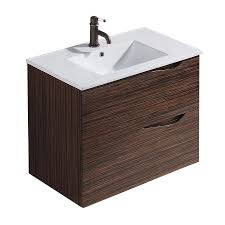 vigo ebony drop in single sink bathroom vanity with vitreous china top common 32 in x 18 in actual 32 in x 18 5 in